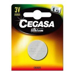 Batteria a Bottone a Litio Cegasa CR2025 3V