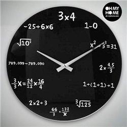 Reloj de Pared Matemáticas Oh My Home