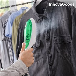 Ferro a Vapor Vertical InnovaGoods 1000W Branco Verde