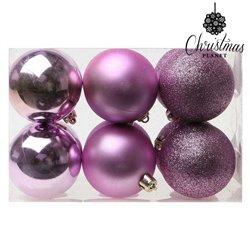 Palle di Natale Christmas Planet 8251 6 cm (12 uds) Viola