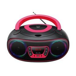 Radio CD MP3 Denver Electronics TCL-212 Bluetooth LED LCD Rosa