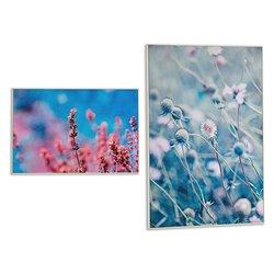 Canvas White Canvas Flowers (3 x 121,5 x 81,5 cm)