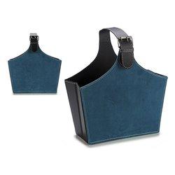 Magazine rack Blue Velvet (15 x 36 x 34 cm)