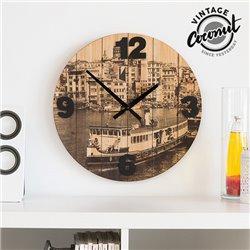 Vintage Coconut Cities Wall Clock