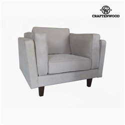 Fauteuil Cuir synthétique Beige (104 x 92 x 80 cm) by Craftenwood