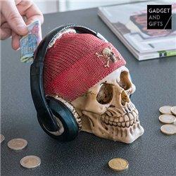 Tirelire Crâne Pirate avec Écouteurs Gadget and Gifts