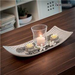 Centro de Mesa com Porta-velas Harmony Homania