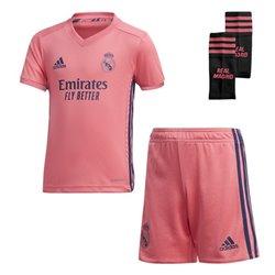 Set di Attrezzatura da Calcio per Bambini Real Madrid Adidas A MINI Rosa (3 pcs) L