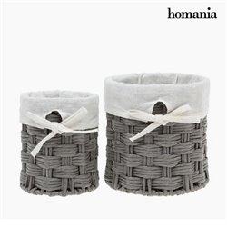 Conjunto de Cestos Homania 2978 (2 pcs) Cinzento