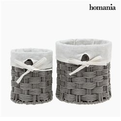 Korbsatz Homania 2978 (2 pcs) Grau