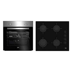 Set di Forno e Top Cucina BEKO BSE21031CXD 66 L (4 Fornelli)
