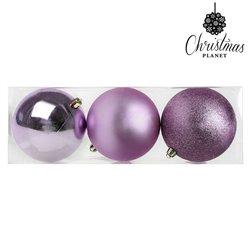 Bolas de Navidad Christmas Planet 7339 10 cm (3 uds) Púrpura