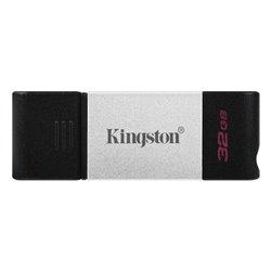 Memoria USB Kingston DataTraveler DT80 Tipo C Nero Argento 32 GB
