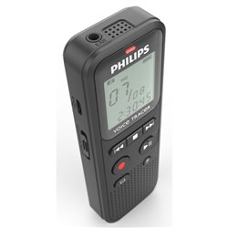 Registratore Philips DVT1115 3.5 mm USB 4 GB Grigio