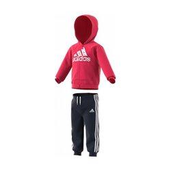 Tuta per Neonati Adidas I LOGO FZ HD FL Rosa Rosa XS
