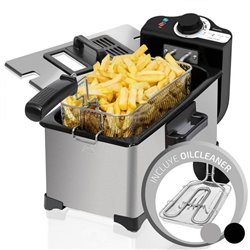 Friggitrice Cecotec Cleanfry 3 L 2000W Argentato