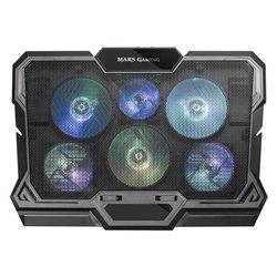 Supporto per Portatile con Ventilatore Mars Gaming MNBC4 RGB Nero