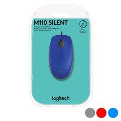 Mouse Ottico Mouse Ottico Logitech M110 Silent 1000 dpi USB Rosso