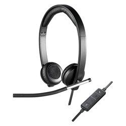 Auricolari con Microfono Logitech H650 USB 2.0 Nero