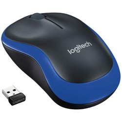 Mouse Ottico Wireless Logitech M185 2.4 GHz USB Azzurro (Refurbished A+)