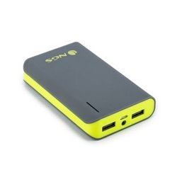 Batteria ricaricabile NGS Powerpump 6600 Lemon POWERPUMP6600LEMON 6.600 mAh 2 x USB