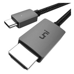 Adattatore USB C con HDMI Thunderbolt 3 Nero (Refurbished A+)