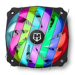 Ventilatore NOX NXHUMMERH123RGB Ø 12 cm LED RGB