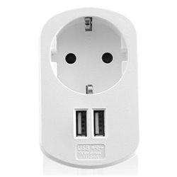 Presa Parete con 2 Porte USB Ewent EW1211 3,1 A