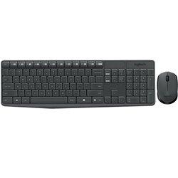 Tastiera e Mouse Wireless Logitech 920-007919 Grigio