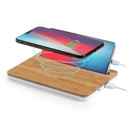 Caricabatterie senza fili con Supporto per Cellulari 146527 Naturale