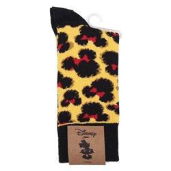 Calzini Minnie Mouse Nero (Taglia unica) Ocra