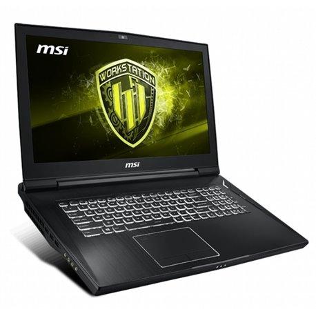 "Notebook MSI WT75 8SL-009ES 17,3"" 4K i7-8700 32 GB RAM 256 GB SSD + 1 TB HHD Quadro P4200 8GB GDDR5"