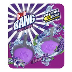 Cillit Bang WC Power & Fresh Toilet Bowl Clip-On Lavender Tabs (Pack of 2) x6