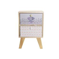 Comodino Dekodonia Per bambini Legno di paulownia (30 x 25 x 47 cm)