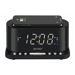 "Radio Sveglia con Caricabatterie Wireless Denver Electronics CRQ-110 12"" LED USB Nero"