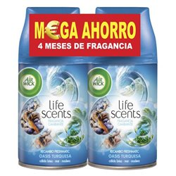 Recarga para Ambientador Air Wick FreshMatic Duplo Life Scents Oásis Turquesa 2 x 250 ml