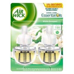 Recambio para ambientador eléctrico Air Wick Duplo White Bouquet 19 ml (Pack de 2)