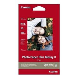 Carta Fotografica Lucida Canon Plus Glossy II 10 x 15 cm (50 uds)