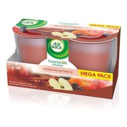 Candela Aromatica Air Wick Mela Rossa della California (Pacco da 2)