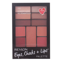 Astuccio da Trucco Eyes Cheeks Lips Revlon 100 - Romantic Nudes