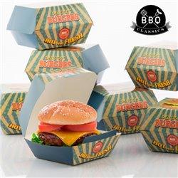 Set de Cajas para Hamburguesas BBQ Classics (Pack de 8)