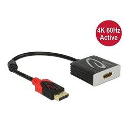 Adattatore DisplayPort con HDMI DELOCK 62734 20 cm Nero