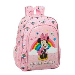 Zaino per Bambini Minnie Mouse Rainbow Rosa (33 cm)