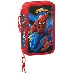 Plumier Doppio Spiderman Go Hero Nero Rosso (28 pcs)