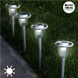 Luz Solar Circular Tocha Oh My Home (Pack de 4)