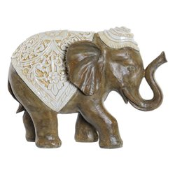 Statua Decorativa Dekodonia Resina Elefant (39 x 16 x 29 cm)
