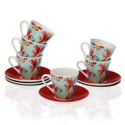 Set di Tazze da Caffè Paradise Porțelan (6 Pezzi)