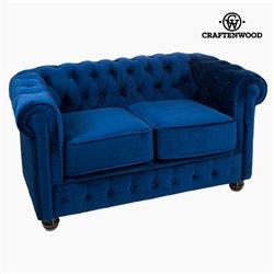 Chesterfield Sofa 2-Sitzer Samt Blau - Relax Retro Kollektion by Craftenwood