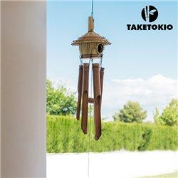 Campana de Viento Casita de Bambú TakeTokio