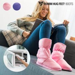 Warm Hug Feet Mikrowellenfähige Stiefel Rosa S